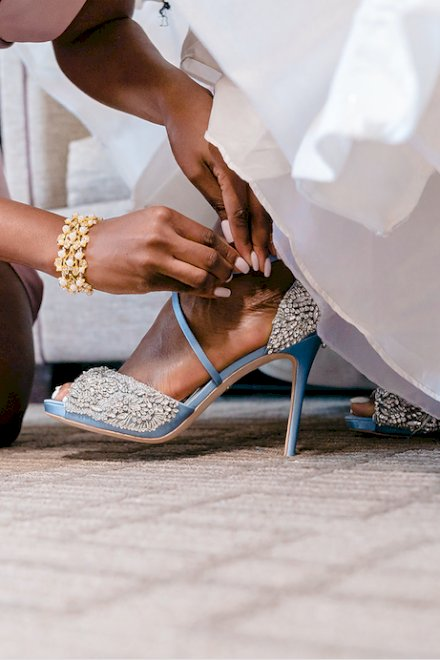 """Luxury Bridal Shoes - for your """"Something Blue"""""""