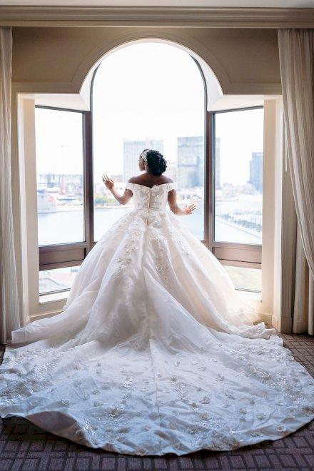 Custom Estelle Bridal Wedding Ball Gown Dress