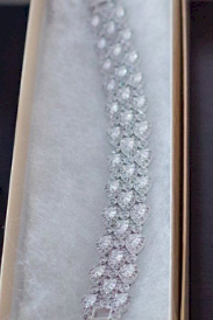 Bridal Boutique (NYC) Crystal Silver Bracelet