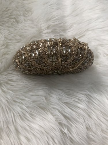 Gold Clutch and White & Gold accessories