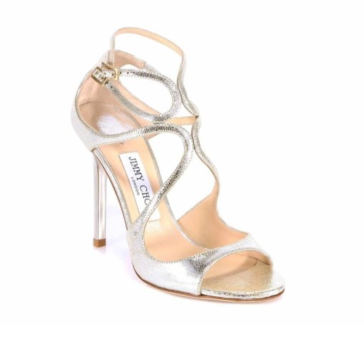 Jimmy Choo Lang Sikver Sandals