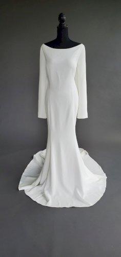 Justin Alexander 8936 Crepe Long Sleeve Dress
