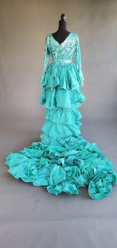 Turquoise Sequin Mermaid Dress