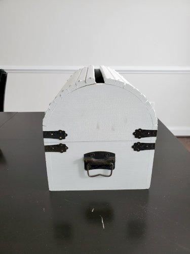 Wooden Card Box White