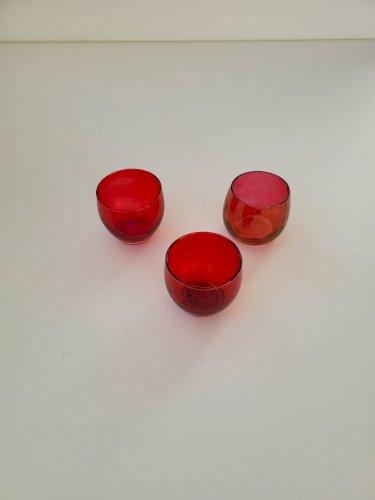Red Votive Candle Holder