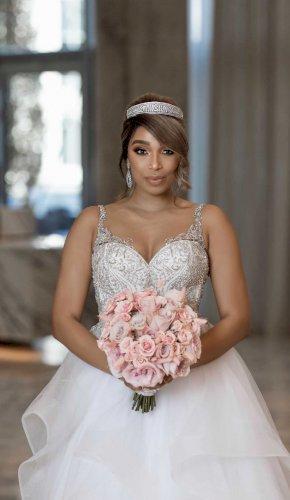 Ashley & Justin Ivory Wedding Dress 10575