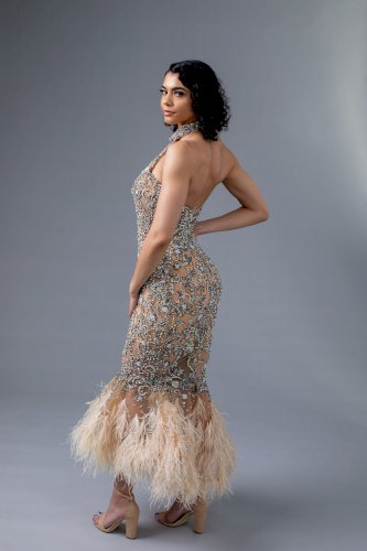 Bling Albina Dyla Halter Neck Dress Size 6