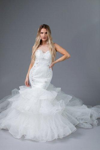 Beautiful Bride Ivory  Mermaid Wedding Dress