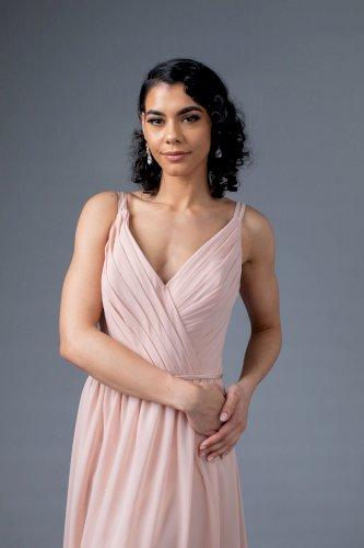 Sorella Vita Blush V-neck Bridesmaid Dress 8614